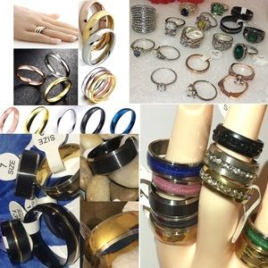 40x Wholesale $1 Each Fashion Cocktail Ring Lot